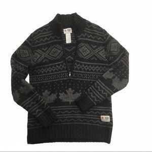 HBC OLYMPICS Men's lambs wool sweater Black/grey